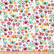 Free Spirit Cotton Busy Bee Cotton Clothing Quilting Fabric