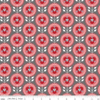 Riley Blake Desert Bloom Desert Medallion Gray Cotton Quilting Dress Bag Fabric