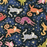 Blank Quilting Cats Cotton Quilting Dress Bag Fabric