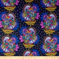 Free Spirit Tambourine Bird Watching Lamplight Cotton Clothing Quilting Fabric