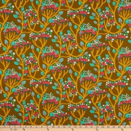 FreeSpirit Endless Summer Bubbling Brass Cotton Quilting Dress Fabric