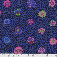 Kaffe Fassett Guinea Flower Blue Cotton Quilting Dress Fabric