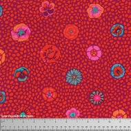 Kaffe Fassett Guinea Flower Red Cotton Quilting Dress Fabric