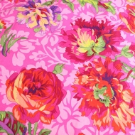 Kaffe Fassett Guinea Flower Purple Cotton Quilting Dress Fabric