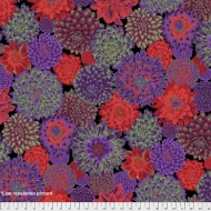 Kaffe Fassett Dancing Dahlias - Dark Cotton Dress Quilt Fabric