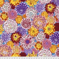 Kaffe Fassett Dancing Dahlias - Multi Colour Cotton Dress Quilt Fabric