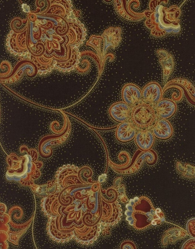 Timeless Treasures - Pashmina - Jacobean Flower Cotton Quilting Fabric