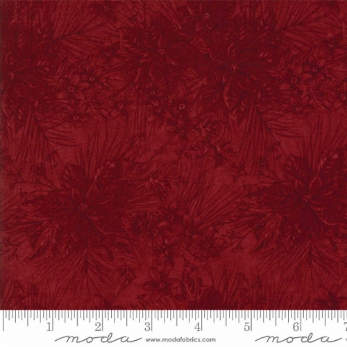 Moda Forever Green by Holly Taylor Red Cotton Quilting Fabric