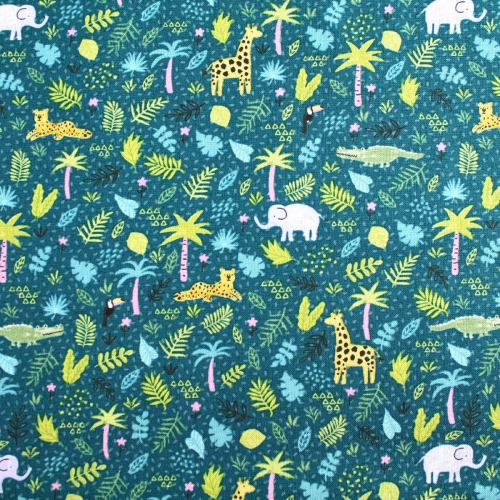 Brother Sister Forest Friends Children Cotton Quilting Clothing Fabric