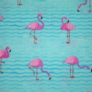 Hi Fashion Flamingo Print Cotton Quilting Clothing Fabric
