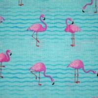 Hi Fashion Flamingo Print Cotton Quilting Clothing Fabric