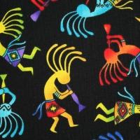 Timeless Treasures Dancing Men WEST C Cotton Quilting Fabric