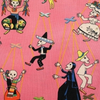 The Alexander Henry Skeleton Marionetas Cotton Quilting Fabric