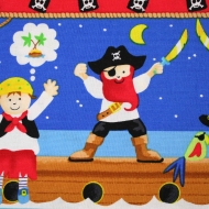 Timeless Treasures Pirate Children Kid Cotton Quilting Clothing Fabric