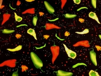 Hot Pepper Salsa Picante Salsa Picante Toss Quilting Clothing Craft Fabric