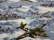 Warplanes By Hoffman California Patchwork Clothing Craft 100% Cotton Fabric