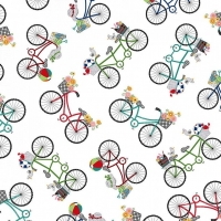 Vintage Boardwalk Bicycle By Maywood Patchwork Clothing Craft Cotton Fabric