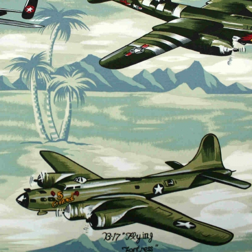 WARPLANES By Hoffman Califonia Patchwork Clothing Craft 100% Cotton Fabric