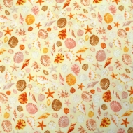 Seashells By Timeless Treasures Clothing Craft Quilting Patchwork Cotton Fabric