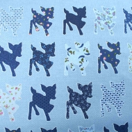 Baby Deer By Home Deco Craft Quilting Patchwork Backing 100% Cotton Fabric