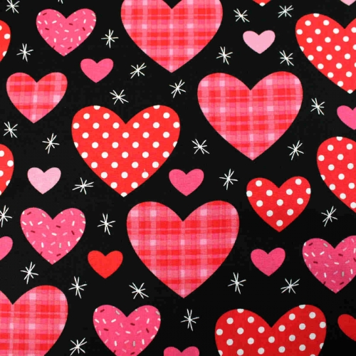 Hearts By Brother Sister Patchwork Clothing Craft Bunting Backing Cotton Fabric