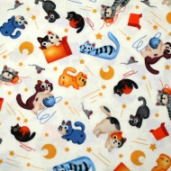 Michael Miller feline friends Cat Collection Cotton Craft Quilting Fabric