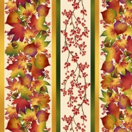 Henry Glass Autumn Time Cream Cotton Quilting Craft Fabric