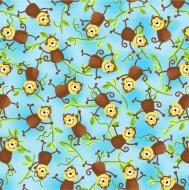 Studio E - Jungle Camp Monkeys on Vine Cotton Quilting Craft Fabric