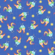 Blank Quilting Oink, Moo, Cock-A-Doodle Doo Roosters Cotton Quilting Craft Fabric