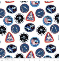 Riley Blake NASA Mission Patches Fabric Out of this World Cotton Quilt Fabric 100% Cotton Quilting Fabric