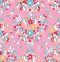 Riley Blake Forget Me Not Main Pink 100% Cotton Craft Quilting Fabric