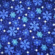 Exclusively Quilters Snow Christmas 100% Cotton Craft Quilting Fabric