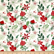 Moda Merry Merry Spruce Snow Designer Cotton Quilting Craft Fabric