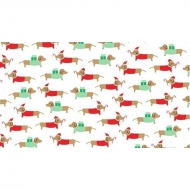 Dear Stella Christmas holiday Sausage Dogs Cotton Quilting Craft Fabric