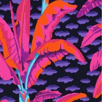 Kaffe Fassett Banana Tree PWGP179.Black Quilt Cotton Craft Quilting Clothes Fabric half meter