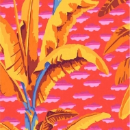 Kaffe Fassett Banana Tree PWGP179.Red Quilt Cotton Craft Quilting Clothes Fabric half meter