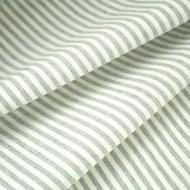 French Ticking Cotton-Linen Blend Grey Stripes (per meter, half-meter or sample)