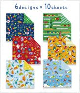60 x Fun Design Japanese Origami Papers Double Sided Print 15cm x 15cm