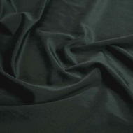 "Premium Plush Velvet Smooth Soft Cushion Dress-making Curtain Craft Fabric 61"" Width - Midnight Black"