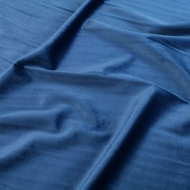 "Premium Plush Velvet Smooth Soft Cushion Dress-making Curtain Craft Fabric 61"" Width - Metallic Silver Blue"